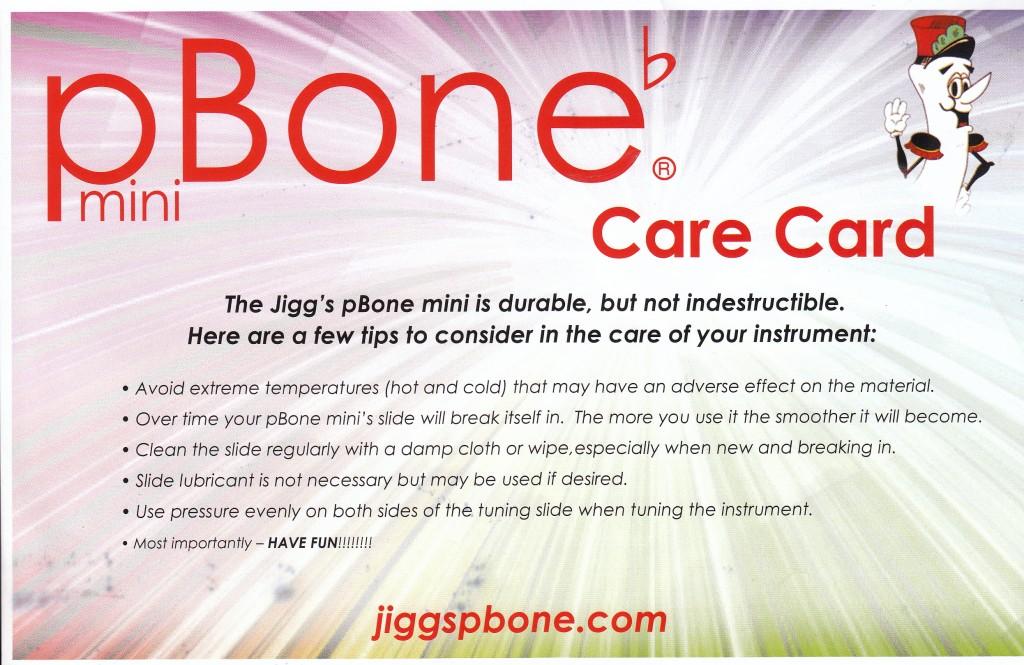 pBone Care Card