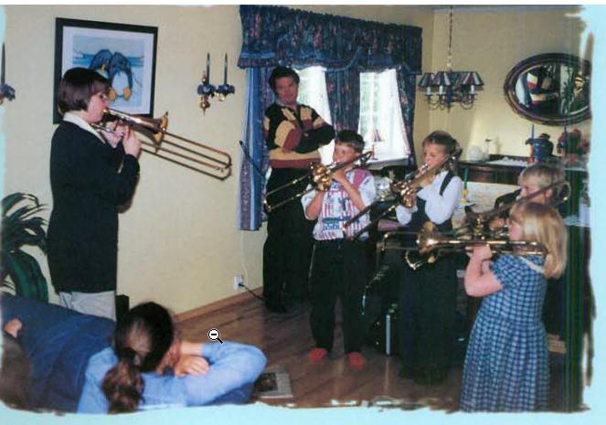 Teaching beginners on alto trombone